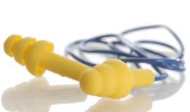 Protective ear plugs Stock Photos