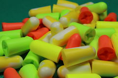 Protective ear plugs Royalty Free Stock Photo