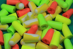 Protective ear plugs Stock Photography