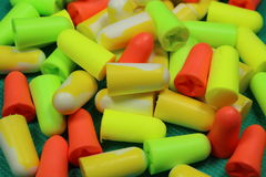 Protective ear plugs Royalty Free Stock Image