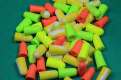 Protective ear plugs Stock Photo