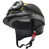 Protective ears for fastening leather motorcycle Stock Photos