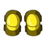 Protective elbow pads for cyclists. Protection for athletes.Cyclist outfit single icon in cartoon style vector symbol. Stock web illustration Royalty Free Stock Images