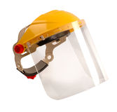 Protective face shield. For industrial use Stock Photos