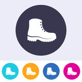 Protective footwear must be worn icon. Single vector protective footwear must be worn icon Royalty Free Stock Image
