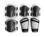 Free Protective Gear For Multi Sport 3d Render On White Background Royalty Free Stock Photo - 73368005