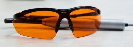 Protective glasses Stock Photo