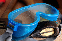 Protective glasses for dangerous work Royalty Free Stock Photo