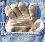 Protective glove in pocket Royalty Free Stock Image