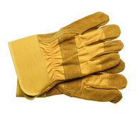 Protective gloves. Isolated on white Stock Photos