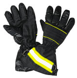 Protective gloves. For firefighters. Inside and outside of gloves . Isolated on white background Stock Photography