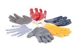 Protective gloves as flower. Stock Photo