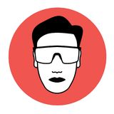 Protective goggles icon Royalty Free Stock Photos