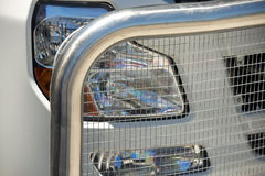 Protective grating of the truck Royalty Free Stock Photo