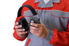 Protective headphone Stock Photos