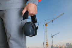 Protective headphone Royalty Free Stock Image