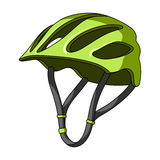Protective helmet for cyclists. Protection for the head athletes.Cyclist outfit single icon in cartoon style vector Royalty Free Stock Photo