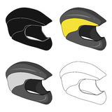 Protective helmet for cyclists. Protection for the head athletes.Cyclist outfit single icon in cartoon style vector Royalty Free Stock Photos