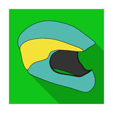 Protective helmet for cyclists. Protection for the head athletes.Cyclist outfit single icon in flat style vector symbol. Stock web illustration Royalty Free Stock Photo