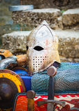 Protective Helmet Medieval Knight Stock Photography