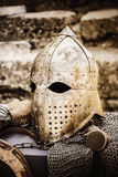 Protective Helmet Medieval Knight Stock Photos