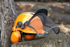 Protective helmet outdoor shot Stock Photos