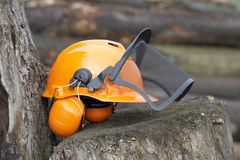 Protective helmet outdoor shot Stock Photo