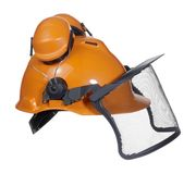 Protective helmet in white back Royalty Free Stock Photos