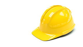 protective helmet on white background with copy space on left si Stock Photos