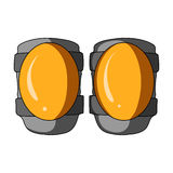 Protective knee pads for cyclists. Protection for athletes.Cyclist outfit single icon in cartoon style vector symbol. Stock web illustration Stock Photo