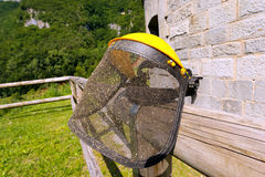 Protective Mask for Gardening Stock Photo