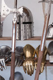 Protective medieval weapons Stock Photos