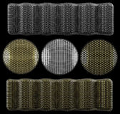 Protective meshes set. (for microphones and speakers vector illustration