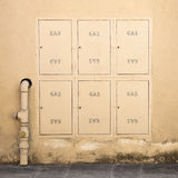 Protective metal Box of gas meter Royalty Free Stock Photo