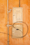 Protective metal box of gas meter in a condominium building Ita Royalty Free Stock Photography