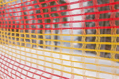 Protective netting on ski trail Royalty Free Stock Image