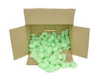 Protective Packaging Foam Chips Stock Photo
