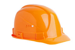 Protective plastic construction helmet Royalty Free Stock Photos