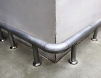 Protective Rail made of Steel Pipe Stock Photos