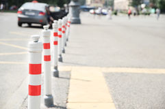 Protective road barriers Royalty Free Stock Photos