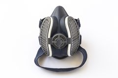 Mask safety and protective on a white background insulated. Mask protective, safety for accident, painters and all categories at risk for harmful inhalation Stock Photo