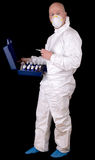 Protective suit worker Royalty Free Stock Images