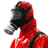 Protective suite with mask Stock Photo