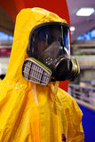 Protective suits and masks Stock Photography