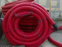 Protective tubing for electrical cables Stock Photos