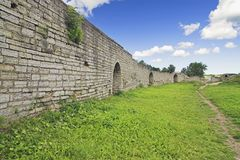 Protective Wall. Of Old Ladoga Fortress, Ancient Russian Capital stock photo