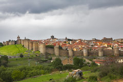 The protective wall  city of Avila Royalty Free Stock Photography