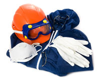 Protective wear. Protective clothing on white background Stock Images