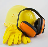 Protective work gear Stock Image