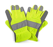 Protective work gloves isolated on white. Background Stock Images